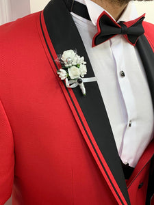 Brooks Slim Fit Groom Collection (Red Lining Tuxedo)