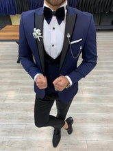 Load image into Gallery viewer, Harrison Navy Swallow Collared Tuxedo