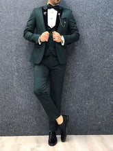 Load image into Gallery viewer, Verno Green Slim Fit Tuxedo