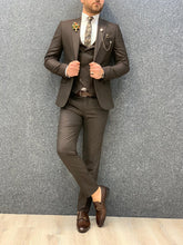 Load image into Gallery viewer, Verno Coffee Slim Fit Suit