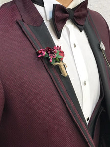 Noah All Red Vested Tuxedo (Wedding Edition)