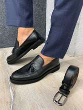 Load image into Gallery viewer, Noak Tasseled Eva Black Loafer