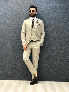 Royal Cream Slim Fit Suit