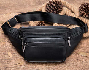 Genuine Leather Unisex Fanny Pack / Waist Bag