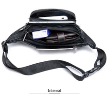 Laden Sie das Bild in den Galerie-Viewer, Genuine Leather Unisex Fanny Pack / Waist Bag