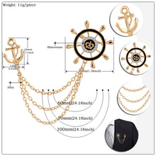 Load image into Gallery viewer, Anchor Chain Brooches