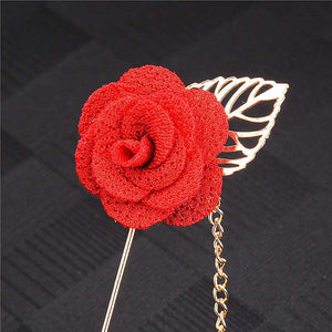 Flower Lapel Suit Pin