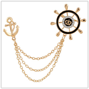 Anchor Chain Brooches