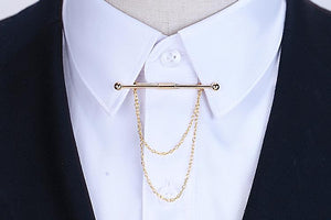 Shirt Collar Buttoned Pin