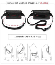 Load image into Gallery viewer, Genuine Leather Unisex Fanny Pack / Waist Bag