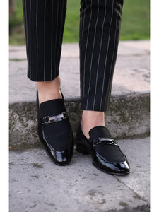 Lance Black Leather Loafers