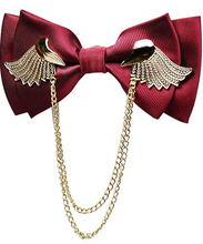 Load image into Gallery viewer, Men's Adjustable Metal Golden Wings Two Layer Neck Bowtie Bow Tie