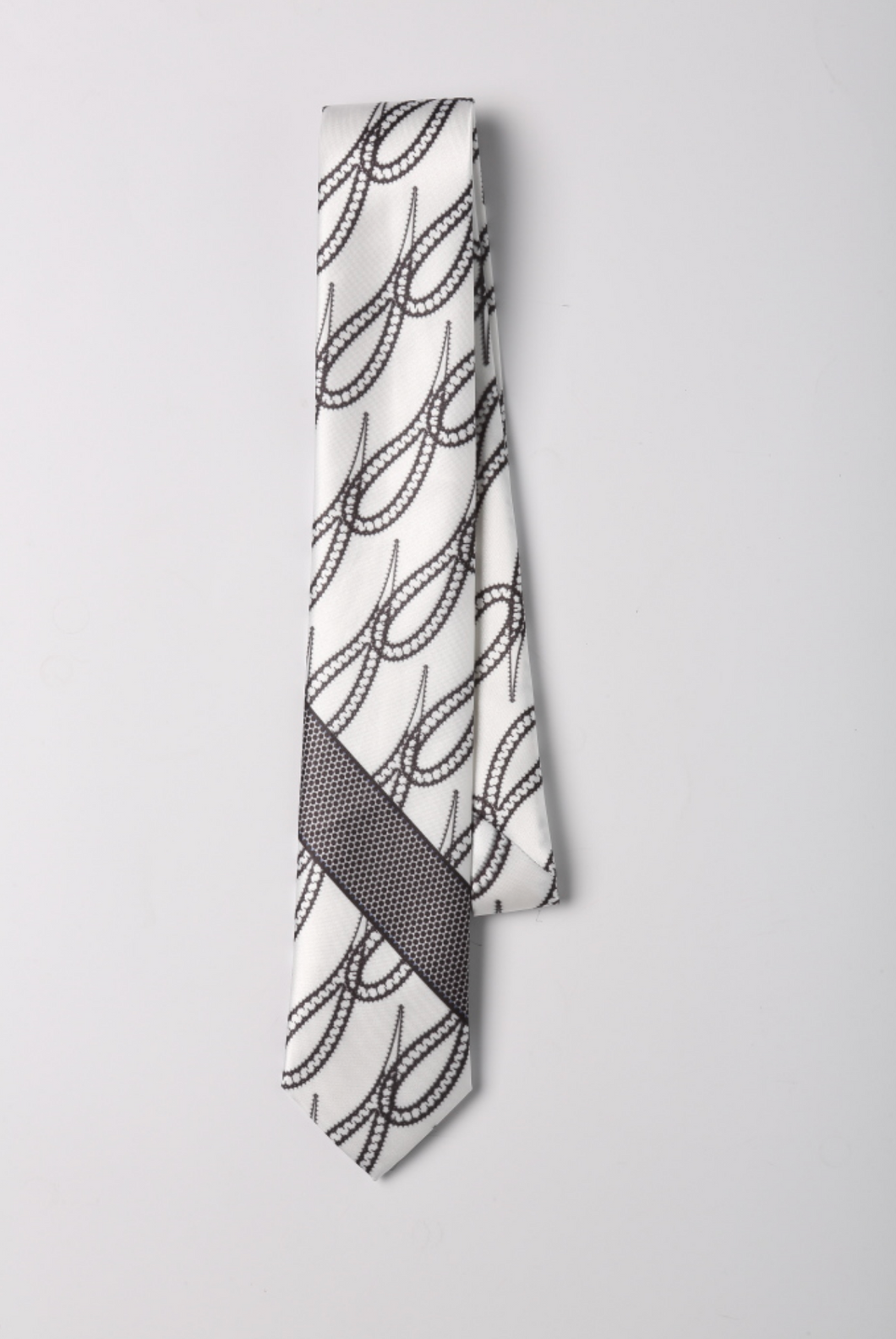 Light Paisley Silk Tie