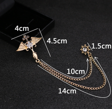 Load image into Gallery viewer, Wings Tassel Chain Brooch