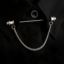 Load image into Gallery viewer, Retro Shirt Collar Pin Chain