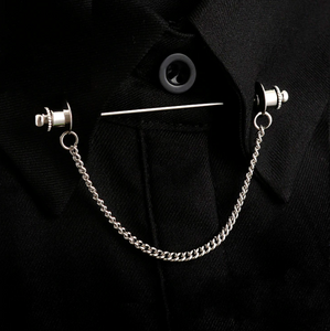 Retro Shirt Collar Pin Chain