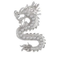 Load image into Gallery viewer, Dragon Collar Chain Brooch