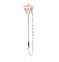 Load image into Gallery viewer, Rhinestone Crystal Crown Brooch