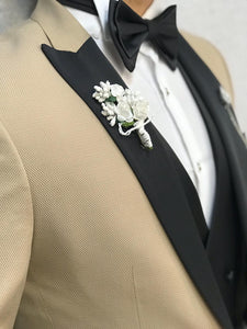 Noah Kirlangic Cream Vested Tuxedo (Wedding Edition)