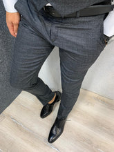 Load image into Gallery viewer, Noak Plaid Dark Grey Slim Suit