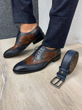 Noak Jourdan Navy Coffee Shoes