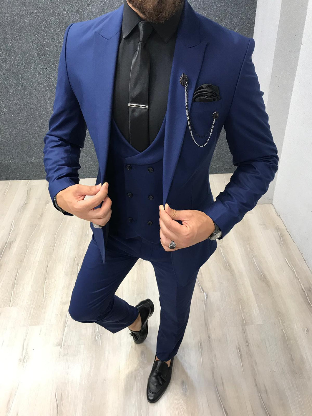 Piomo Sax Slim Fit Suit