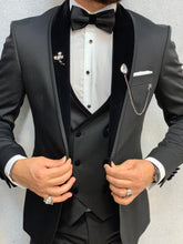 Load image into Gallery viewer, Piomo Black Velvet Shawl Slim Fit Tuxedo