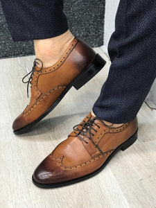 Ferrar Antik Taba Wing Tip Shoes