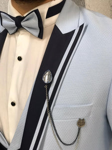 Noah Ice Blue Vested Tuxedo   (Wedding Edition)