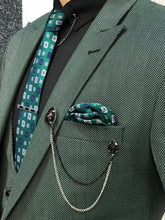 Load image into Gallery viewer, Ferrar Green Grid Slim Fit Suit
