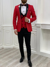 Load image into Gallery viewer, Brooks Slim Fit Groom Collection (Red Lining Tuxedo)