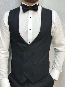 Genova Slim Fit Black with Dovetail Collar Tuxedo