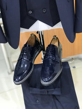 Brodie Navy Tux Shoes (Matching Belts Included)