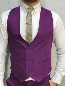 Verno Fuschia Slim Fit Suit