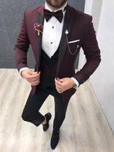 Load image into Gallery viewer, Noah All Red Vested Tuxedo (Wedding Edition)