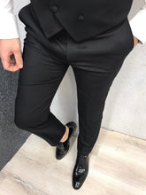 Load image into Gallery viewer, Genova Slim Fit Black with Stony Collar Tuxedo