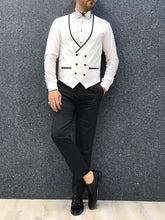Load image into Gallery viewer, Verno White Slim Fit Tuxedo