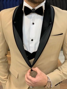 Harrison Cream Bead Shawl Collared Tuxedo
