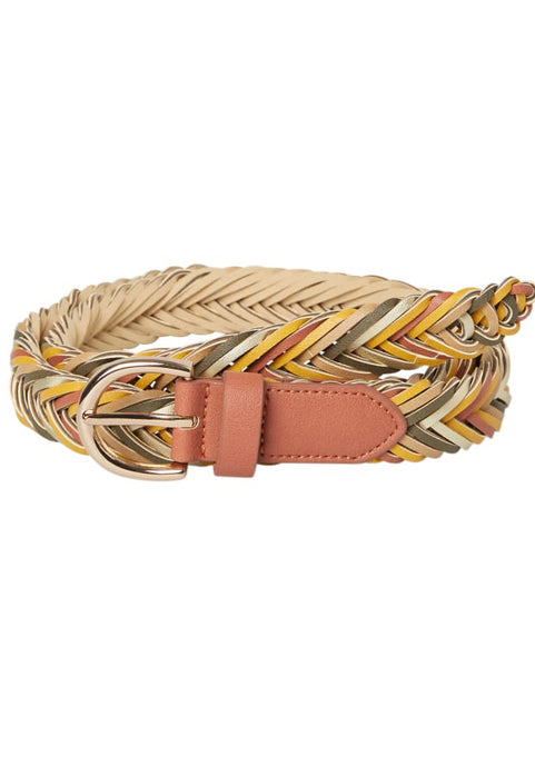 Coloured Plait Jeans Belt