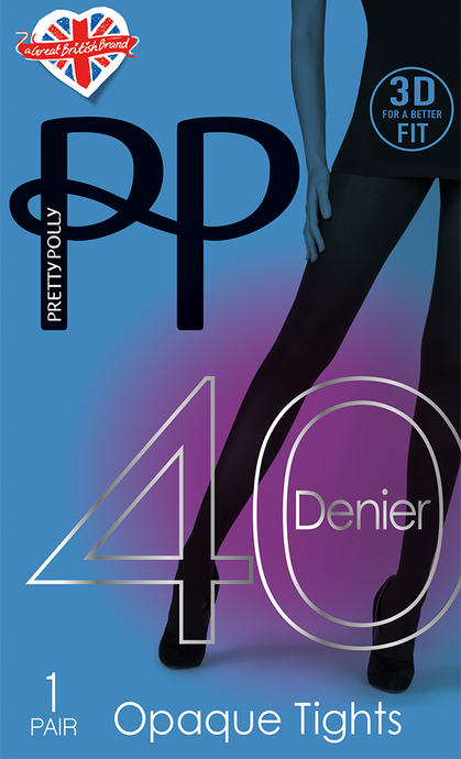 40 Denier Black Opaque Tights