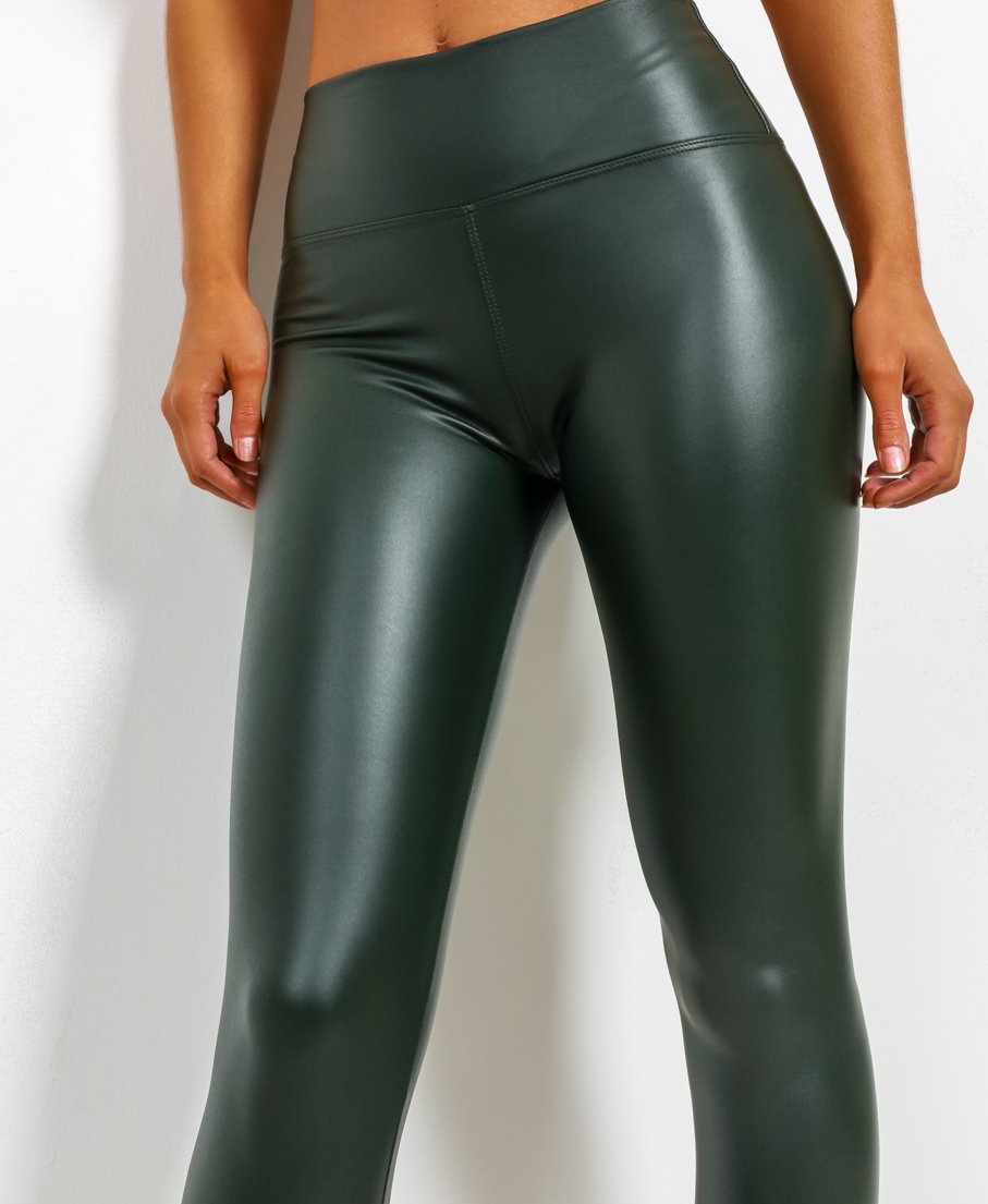 Leather Look Matt Leggings