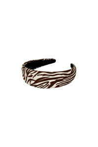 Zebra Coffee Headband