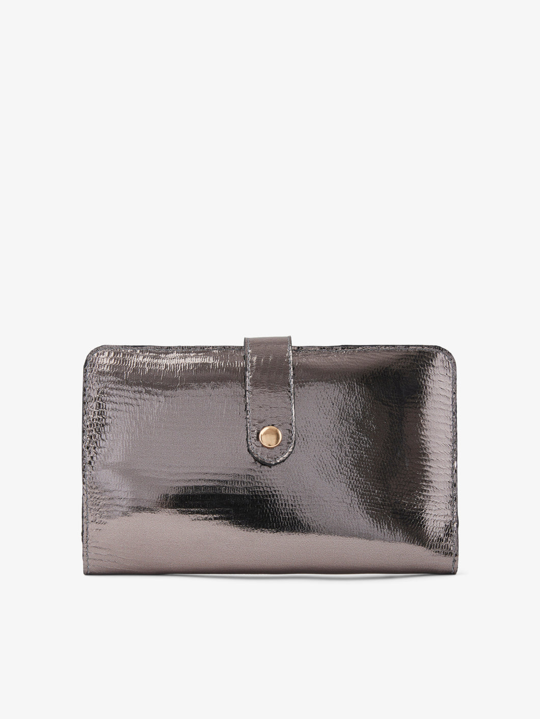 Pewter Leather Purse