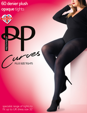 Load image into Gallery viewer, Curve 60 Denier Plush Opaque Tights