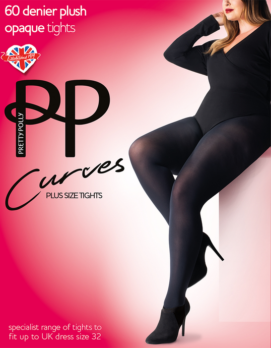 Curve 60 Denier Plush Opaque Tights