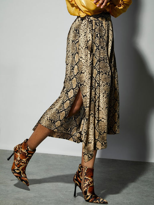 Serpent D-Ring Wrap Skirt