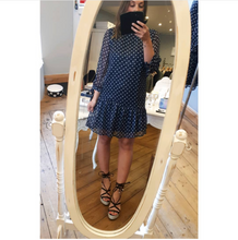 Load image into Gallery viewer, Drop Waist Polka Dot Dress