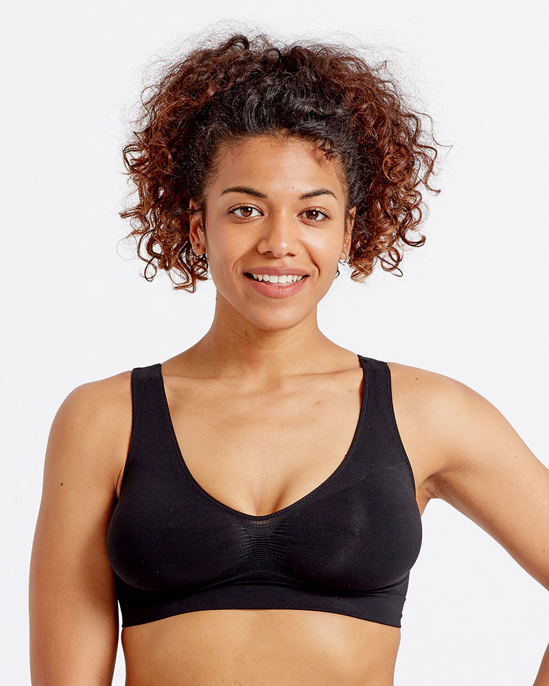 Eco-wear Black Comfort Bra
