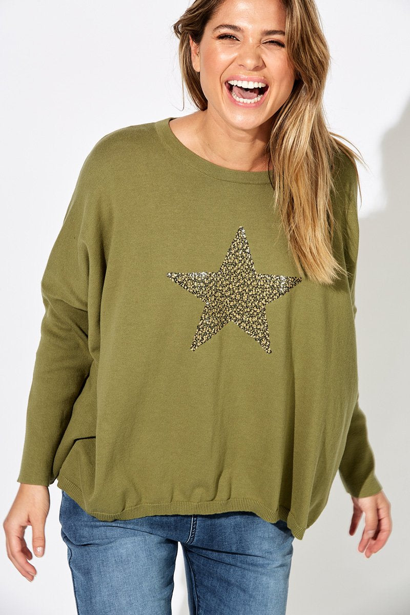 Sequin Star Sweater