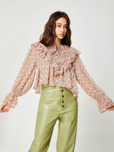 Load image into Gallery viewer, Floral Ruffle Blouse